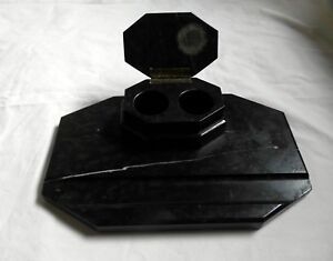 Antique Desk Set From Black Marble For Ink And Feather (3,8kg)