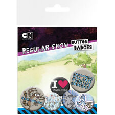 REGULAR SHOW HAMBONING 6 PACK OF BADGES NEW 100% OFFICIAL MERCHANDISE