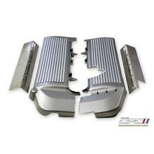 2005-2010 Mustang GT Finned Fuel Coil Covers Gunmetal Grey w/ Silver Fins Gray