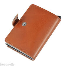 Mens Business Leather Credit Card Holder Mini Wallet ID Case Purse Bag GIFT