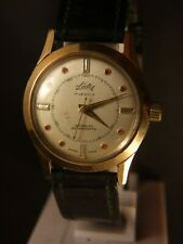 Vintage Sully Swiss Ladie's Watch Gold Plated 17 Jewels w Ruby Stones Dial Rare