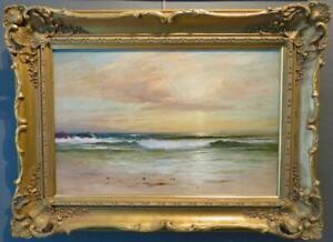 ROBERT GREENLEES (1820-1894) Scottish MARINE Sunset ORIGINAL OIL PAINTING