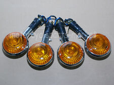 2 Pairs Front Rear Turn Signals Orange Lens For Yamaha V-MAX1200 V-star All Year
