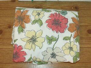 "Threshold Aqua Gray Blue Summer Rectangle Flower Floral Cotton Tablecloth 56x96"""