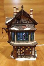 Dept 56 Dickens Village 2001 Ebenezer's Scrooge's House Animated Scene Inside