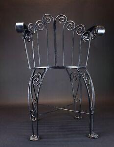 Vintage Wrought Iron Patio Garden Chair