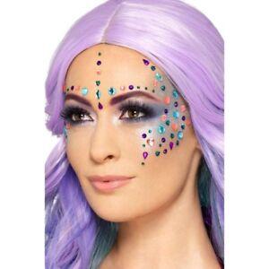 Jewel Face Gems Assorted Colours Festival Make Up Fancy Dress Gems
