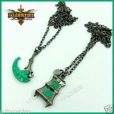 Set of 2 pcs LOL Thresh Necklaces League of Legends Chains Pendant Necklace