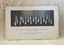 Postcard Ohio Wesleyan University Glee Club & Mandolin Club Concert 1909
