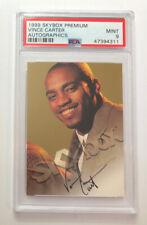 New listing 1999 Vince Carter SkyBox Premium Autographics PSA 9 Mint