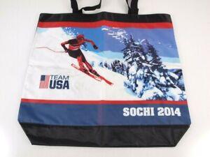 Winter Olympics Team USA Tote Bag Sochi 2014 Ski Snow Nylon Reusable Sack