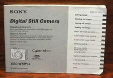 Genuine Sony (DSC-W1/W12) Digital Still Camera Operating Instruction Manual ONLY