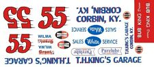 #55 BUB King Kings Garage Hudson Hornet 1/32nd Scale Slot Car Decals