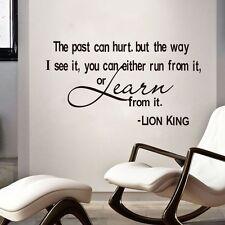 Lion King Wisdom Words Quotes Wall Sticker Vinyl Art Decals Home Kids Room Decor