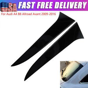 Glossy Black Window Spoiler Side Wing Fin Splitter For Audi A4 B8 Allroad Avant