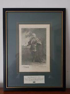 A Collectable Framed Vintage RSC Shakespeare Print Hamlet of Sarah Bernhardt