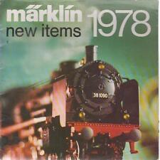 MARKLIN GAUGE 1 , HO & Z GAUGE MODEL RAILWAYS 1978 NEW RELEASES CATALOGUE