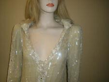 NEW $20K MAJESTIC EAVIS & BROWN LONDON BEADED SEQUIN GOWN DRESS M/6/8 JUST LOOK