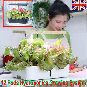 Indoor Herb Garden Hydroponics Growing System with LED Grow Light Smart 12 Pods
