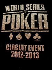 World Series of Poker T Shirt-Ladies size XL  sparkle lettering VNECK NEW