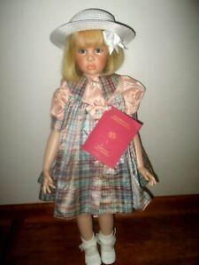 """Hildegard Gunzel Binella 28"""" Poseable Blonde Puppen Doll MIB w/COA #44/750"""