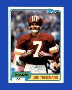 1981 Topps Set Break #165 Joe Theismann NM-MT OR BETTER *GMCARDS*