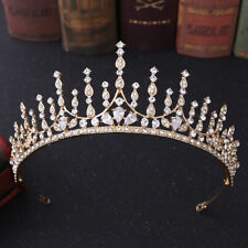 5.8cm High CZ Crystal Tiara Crown Wedding Bridal Party Pageant Prom 2 Colors