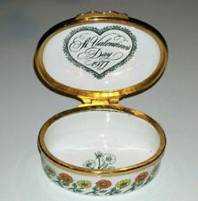 Bilston And Battersea Vintage Enamel Box 'With My Love' ~ A Valentine's Day 1977