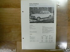 VA21-VAUXHALL VIVA HC 1971 -TECHNICAL INFO