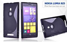Premium BLACK S CURVE GEL TPU Jelly CASE COVER FOR Nokia Lumia 925