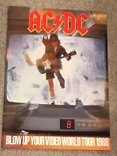 Ac/Dc Concert Program-Malcolm Young Angus Young