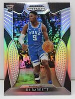 RJ Barrett RC 2019-20 Panini Prizm Draft Picks Silver Prizm Rookie Card #66 Duke