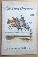 CONCOURS HIPPIQUE Paris 1925 PROGRAMME OFFICIEL POLO 20 pages BON ÉTAT