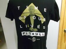 Pitbull Concert T-Shirt 2016 Time Of Our Lives Las Vegas Large