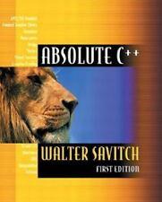 Absolute C++, Walter Savitch, Excellent Book