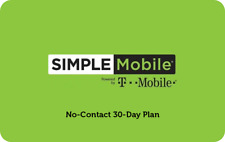 Simple Mobile $40/Month Refill Pin,Unlimited Talk, Text, & 12 GB of Data!