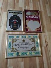 Lot of 3 B G Wines Nectarose Henry Liquor Champagne Wine Bar Vtg Advertising