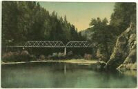 Postcard Los Angeles CA Railroad Bridge California Stream View 1900's 1910's