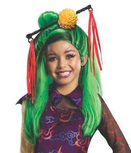 Jinafire Long Wig Girls Monster High Wig Official Halloween Fancy Dress Costume