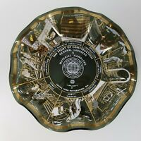Vintage Houze-Art Glass Ash Tray Bowl Dish The Story of Construction Pittsburgh