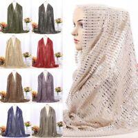 Women Fashion Chiffon Long Scarf Muslim Hijab Head Wraps Shawl Headwear Scarves