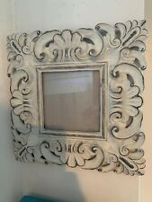 Valerie Bertinelli Picture Frame Ornate Shabby Chic White Scroll