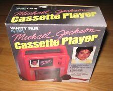 Michael Jackson 1984 cassette player with BOX Vanity Fair MJJ Productions ERTL