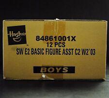 Star Wars SAGA Hasbro Factory Sealed Case W2 C2 '03 AOTC 12 Action Figures