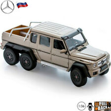 Diecast Car Scale 1:36 Pickup Truck Mercedes-Benz G63 AMG 6×6 Russian Model Toy