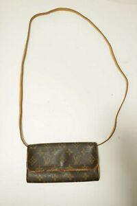 Authentic Louis Vuitton  Monogram Pochette Twin PM Shoulder Pouch M51854 #9029