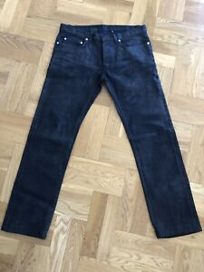 DIOR Mens Black Sheen Jeans 32