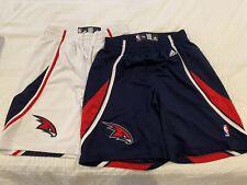 New listing (2) Adidas Men's Sz 34 Atlanta Hawks NBA Basketball Shorts Red