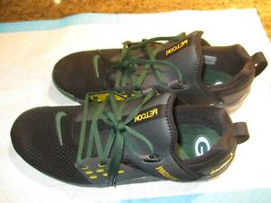 New NIKE Free X Metcon NFL Green Bay Packers Mesh/Rubber Athletic Shoes-Size 12