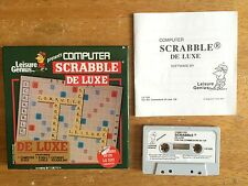 COMMODORE 64 (C64) - SCRABBLE DE LUXE (BY LEISURE GENIUS) - SMALL BOX